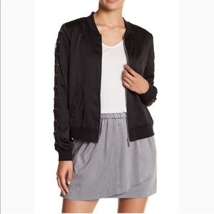 NWOT Kensie Lace-Up Bomber Jacket, Small
